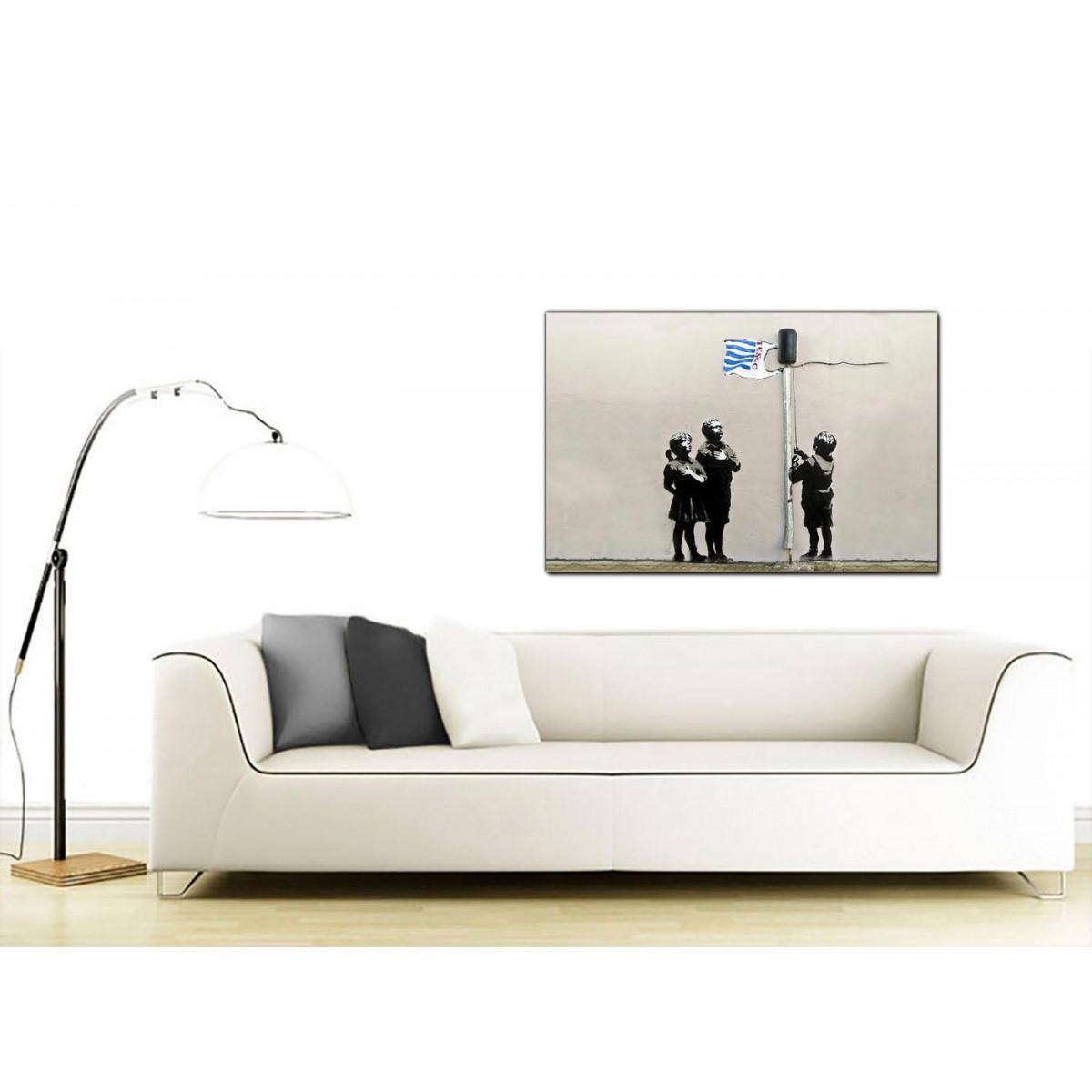 Tesco Living Room Furniture Banksy Canvas Prints Tesco Generation Very Little Helps