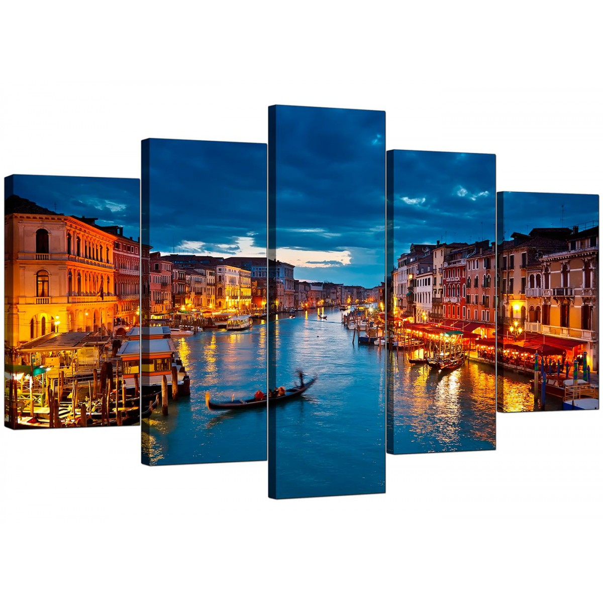 Venice italy canvas prints for your living room 5 panel for Best place to buy canvas prints