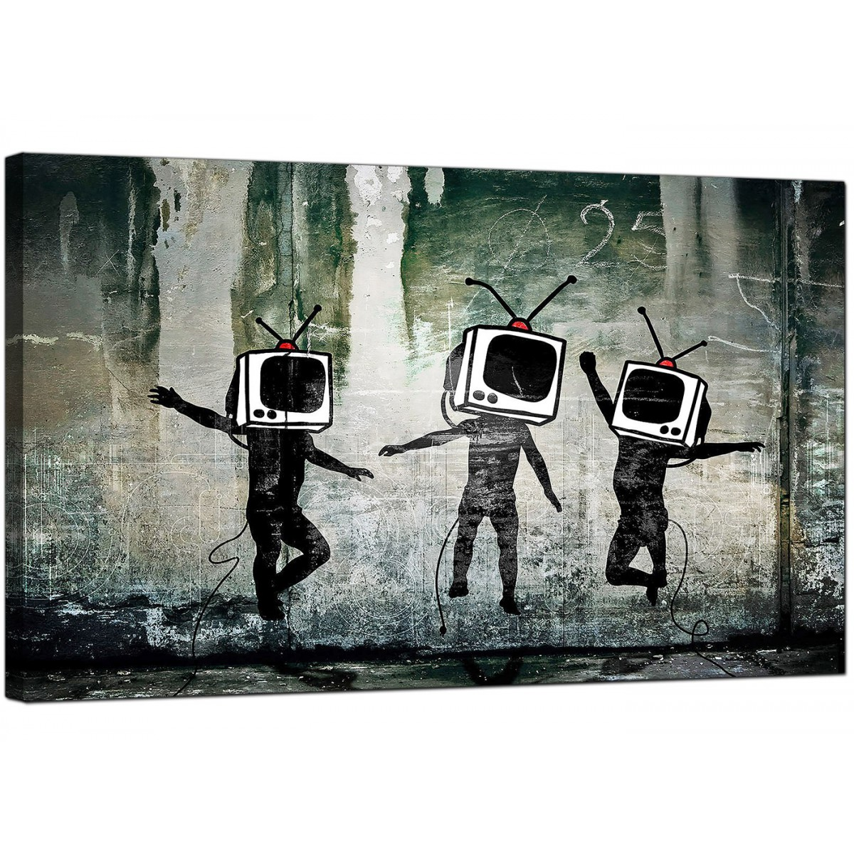 Banksy Canvas Prints Tv Heads