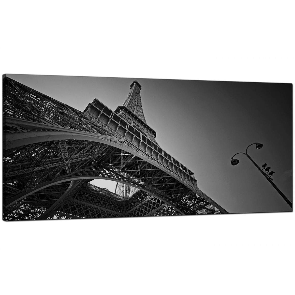 Modern black and white canvas art of the eiffel tower paris for Cheap black and white prints