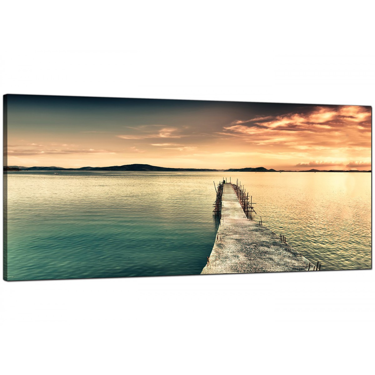 Wide Canvas Wall Art of a Lake Sunset for your Bedroom : cheap blue canvas picture uk sunrise sunset landscape wide 11081 from www.wallfillers.co.uk size 1200 x 1200 jpeg 190kB