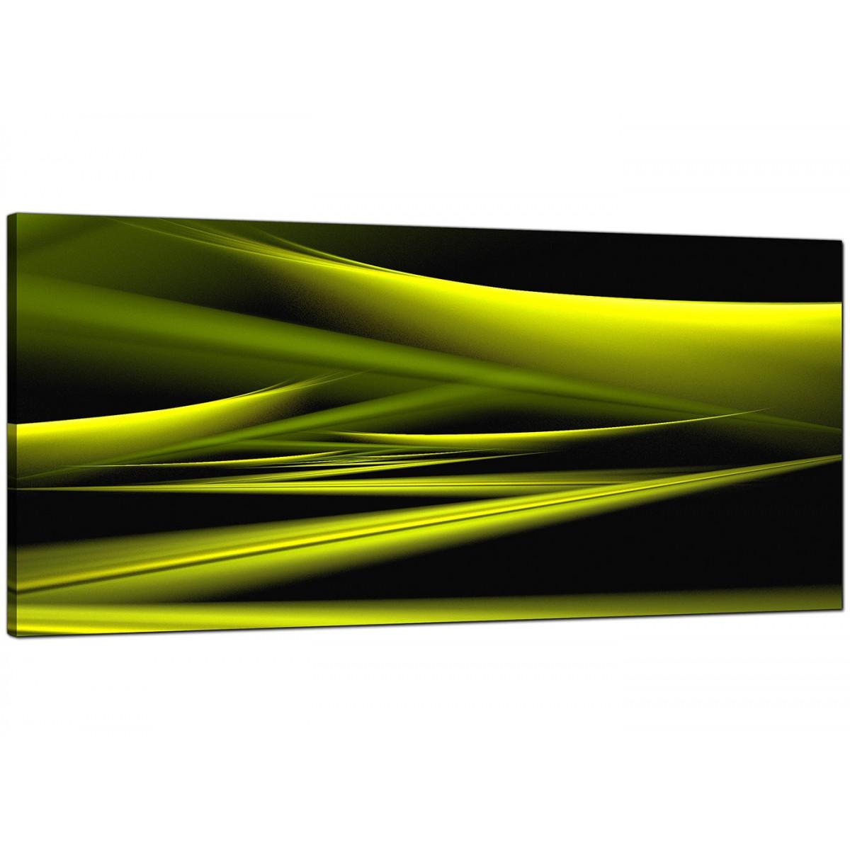 Green Abstract Canvas Prints 120cm X 50cm Lacid