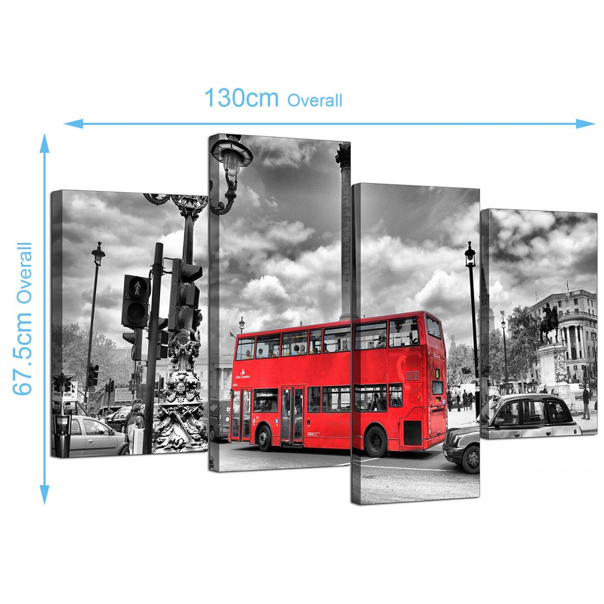 city london canvas prints of red bus in black  u0026 white for living room