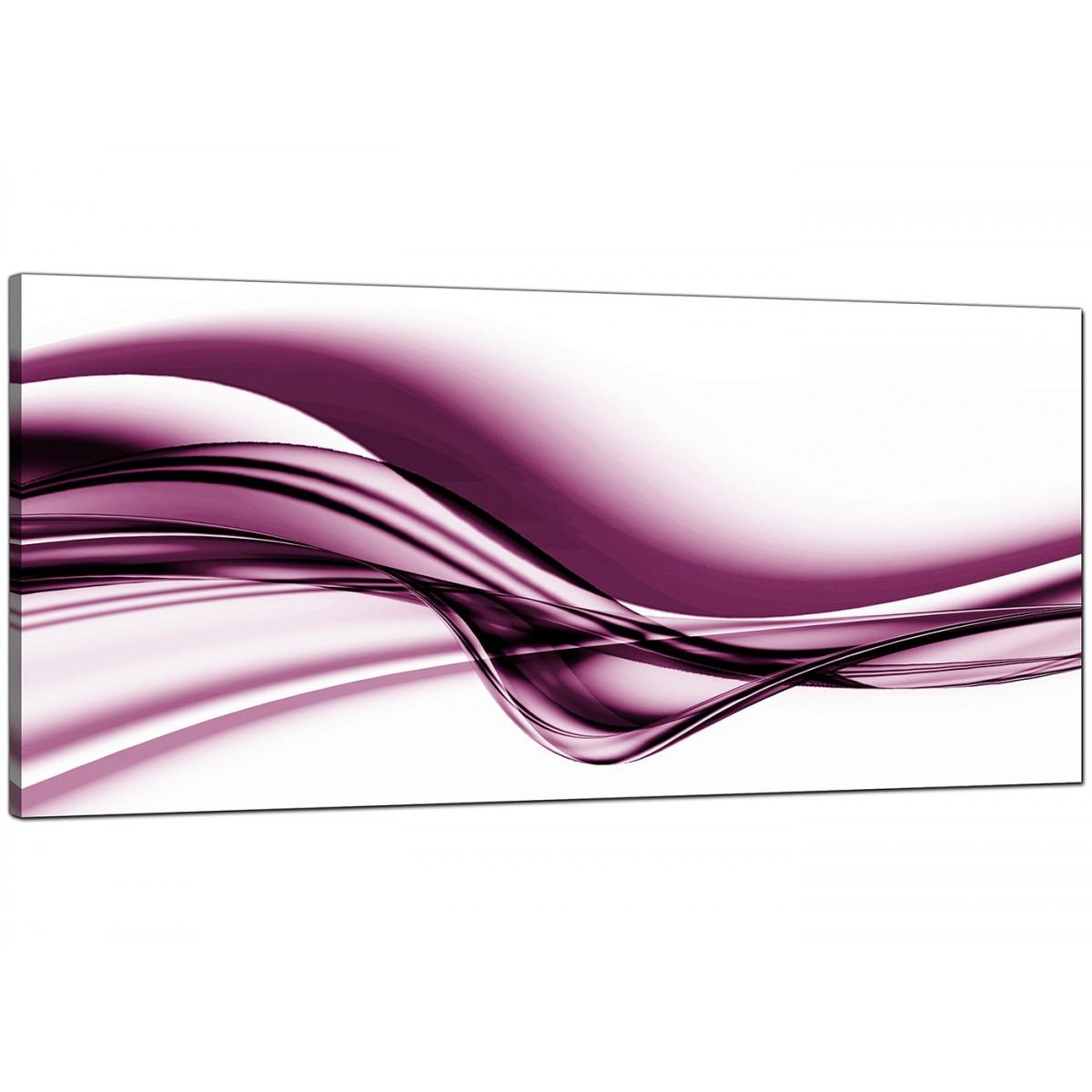 Plum Purple Grey Painting Kitchen Canvas Pictures: Plum Abstract Canvas Art (120cm X 50cm)