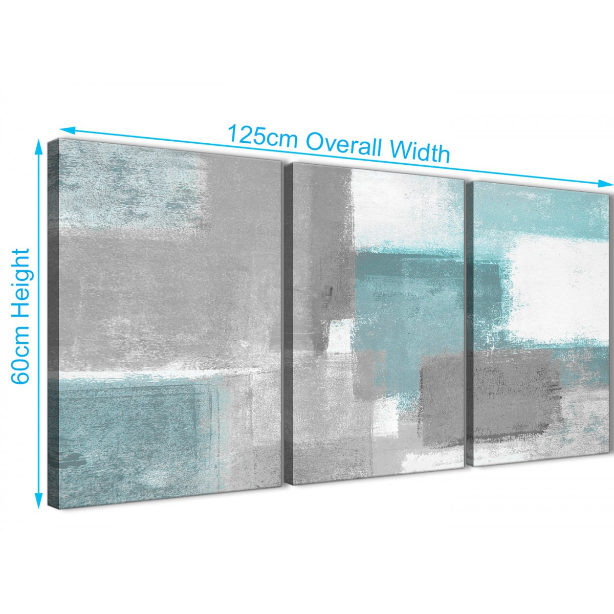 ... Teal Living Room Accessories Uk By 3 Panel Teal Grey Painting Living  Room Canvas Wall Art ...