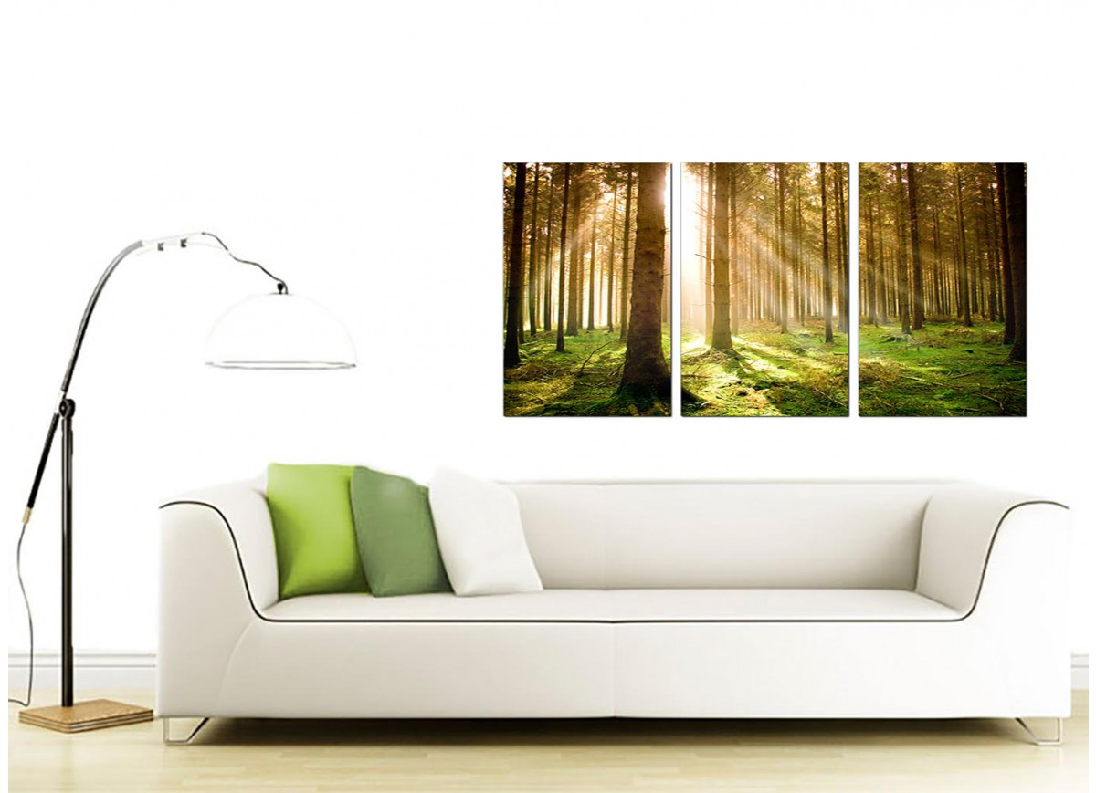 Set of 3 canvas prints of trees 125cm x 60cm for Canvas dining