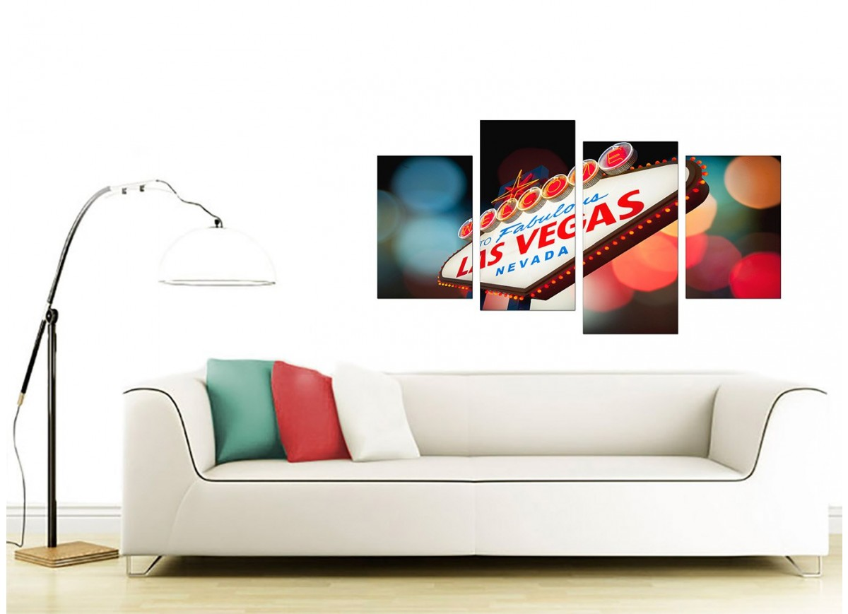 Canvas Art Of Las Vegas For Your Living Room Set Of 4