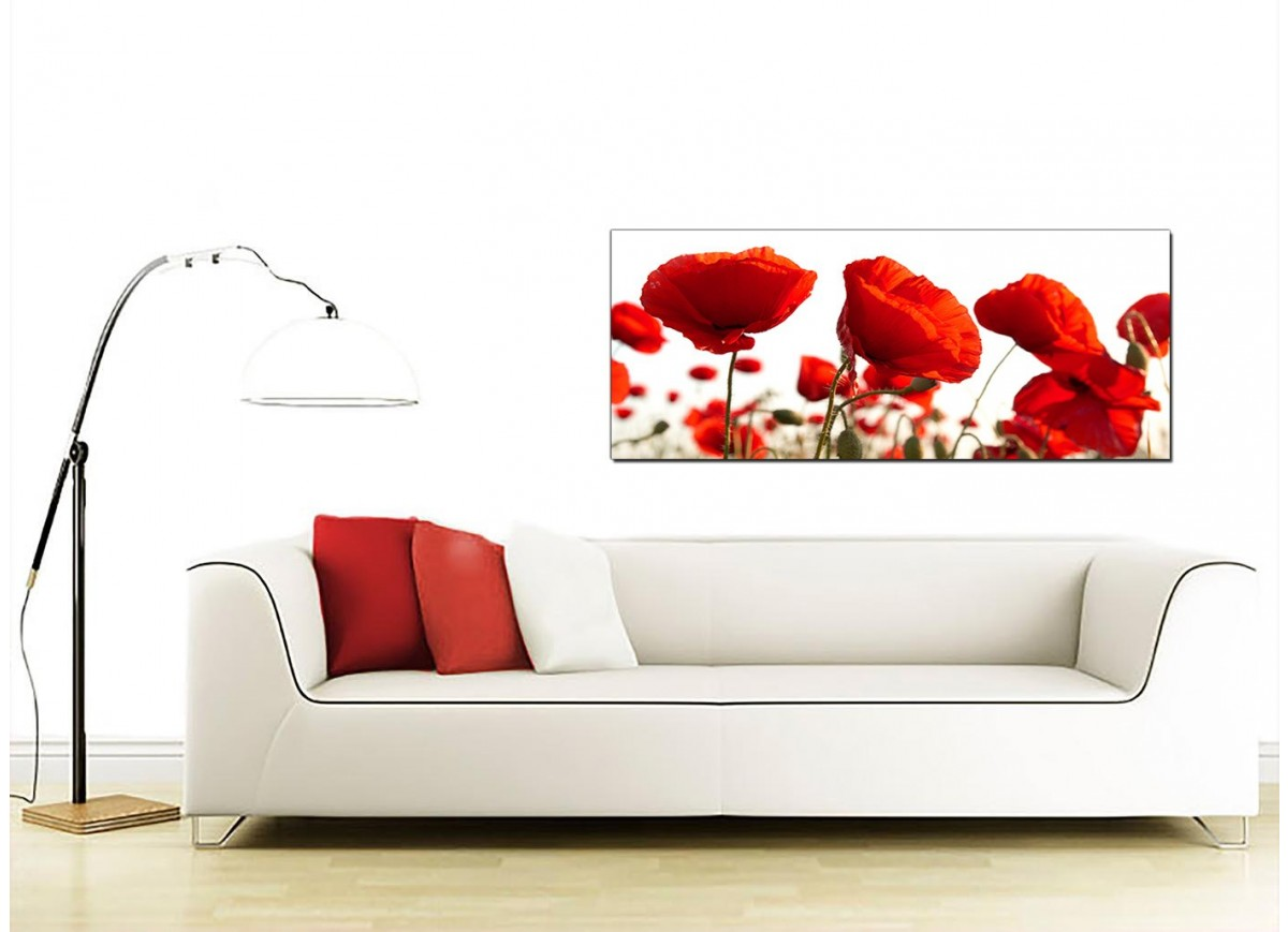 Large red canvas prints of poppy flowers for Cheap wall art