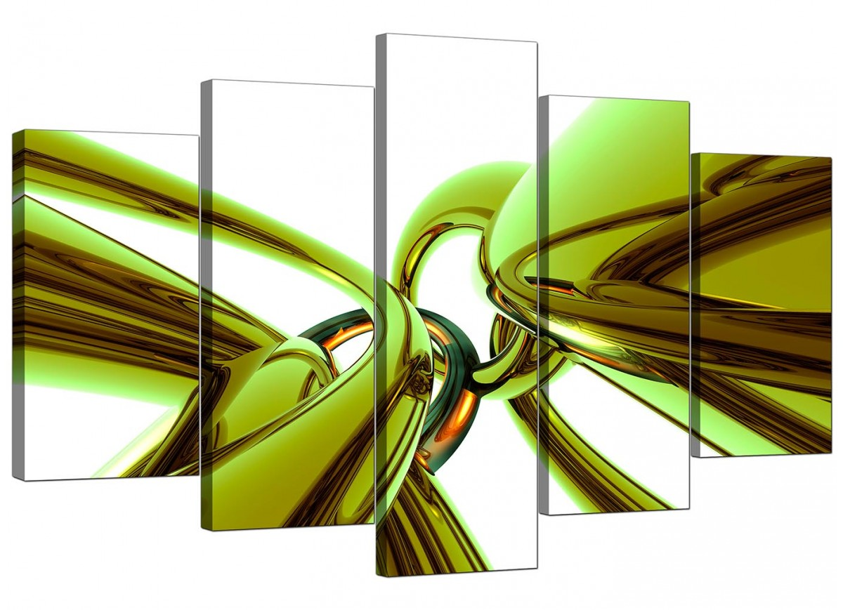 Extra Large Abstract Canvas Prints In Green 5035