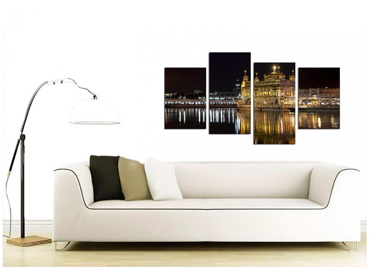 Sikh canvas wall art of golden temple amritsar for your living room - Living room canvas art ...
