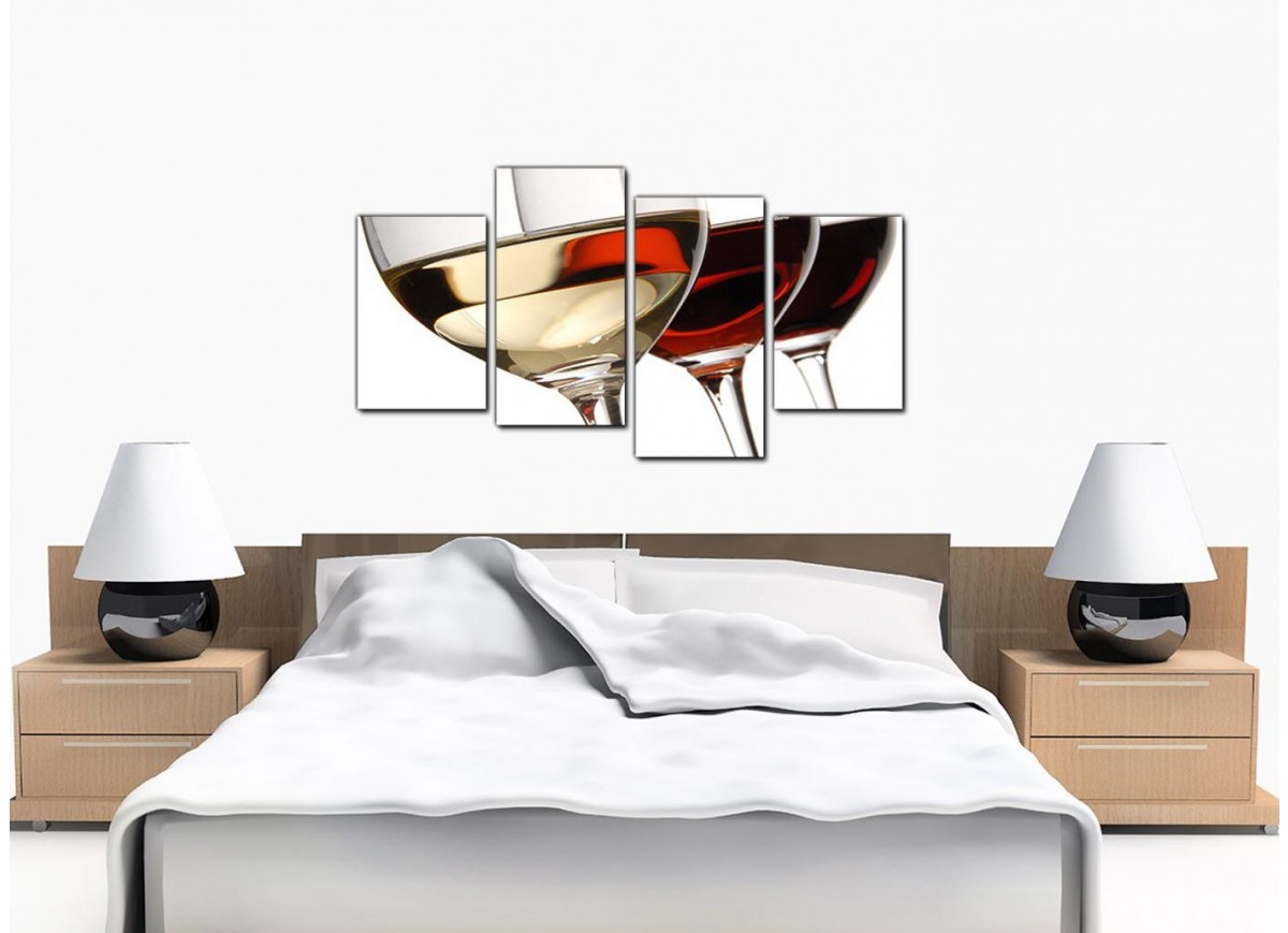 Canvas Prints Of Wine Glasses In Red For Your Dining Room