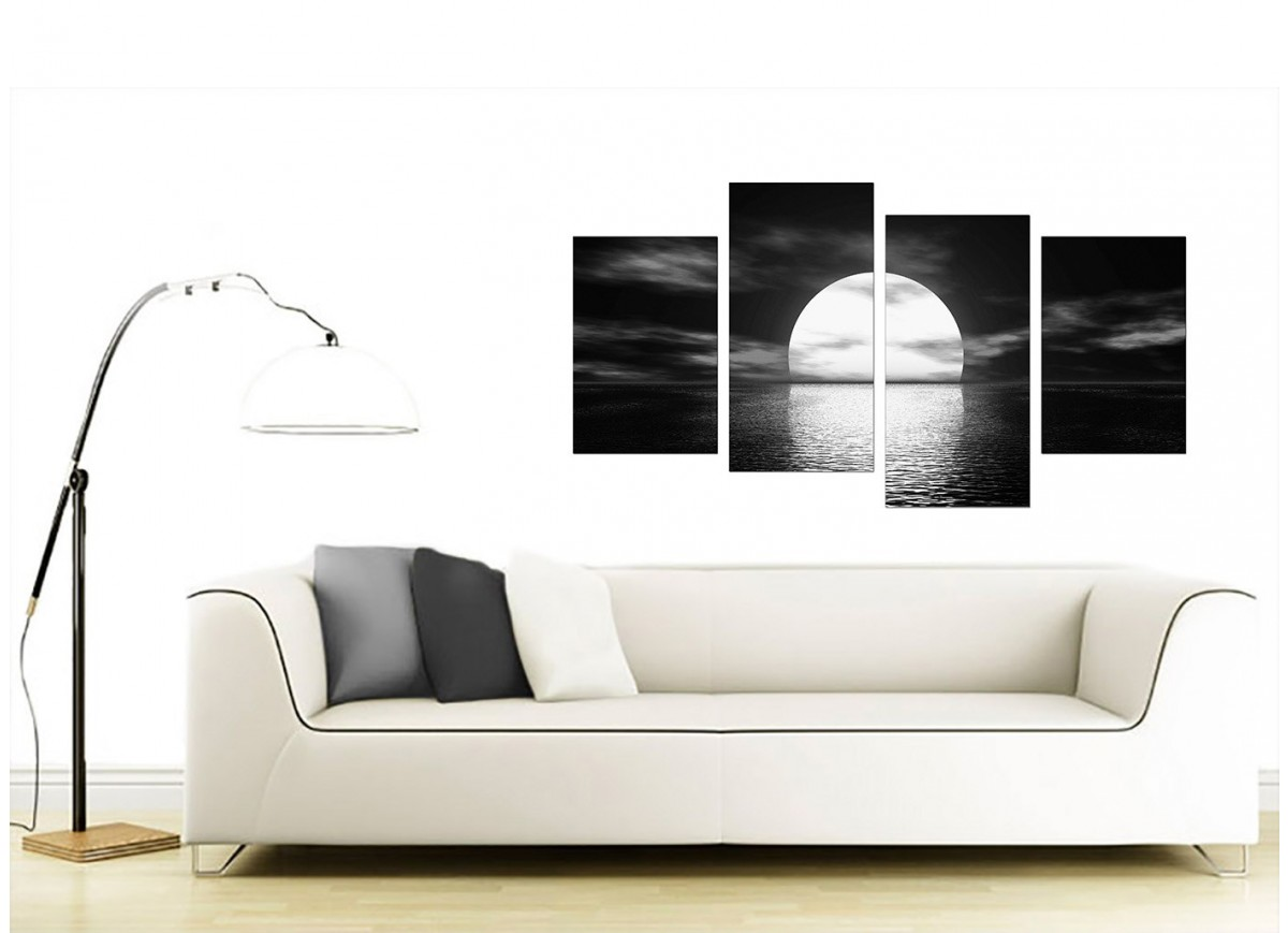 black and white canvas ocean sunset canvas wall art. Black Bedroom Furniture Sets. Home Design Ideas