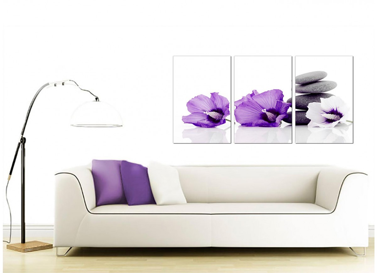 Flowers canvas wall art set of 3 for your dining room for Dining room wall art uk