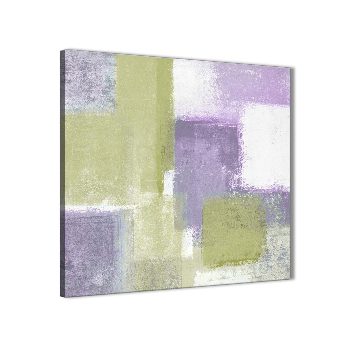lime green purple abstract painting canvas wall art print modern 79cm square 1s364l. Black Bedroom Furniture Sets. Home Design Ideas