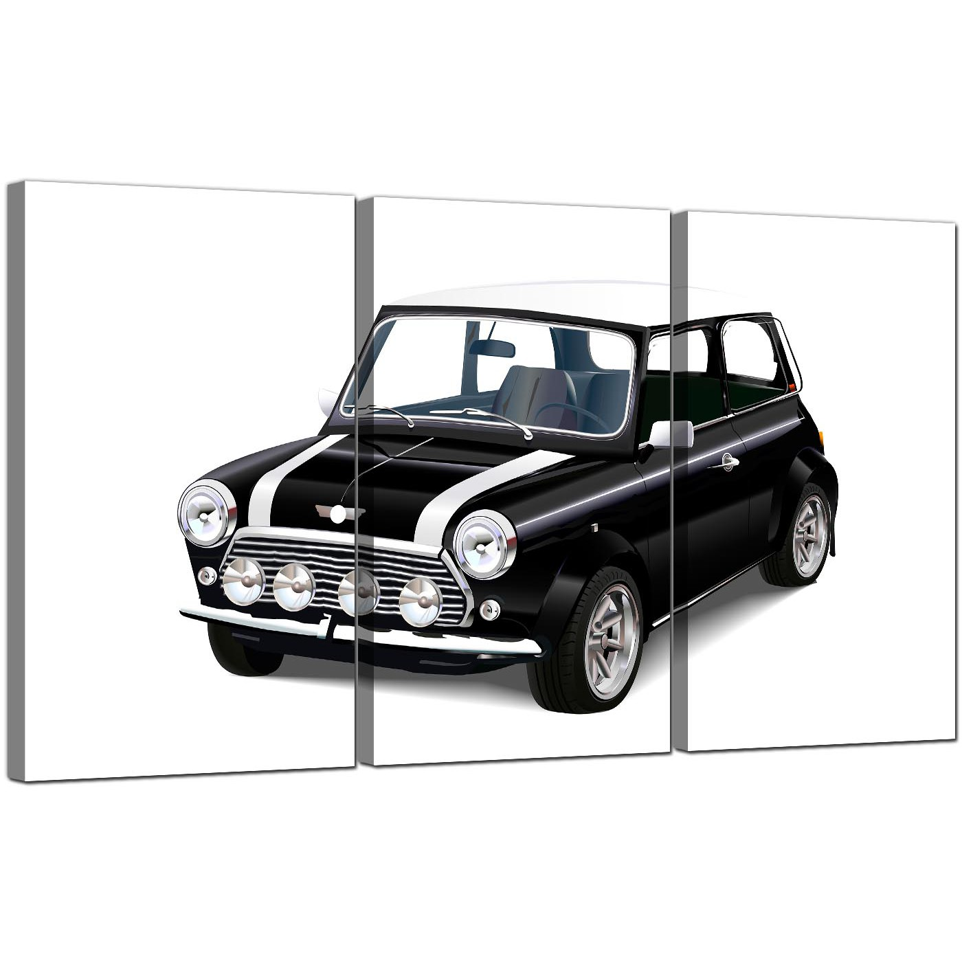 display gallery item 5 3 part automobile canvas wall art mini cooper car 3095 display gallery item 6