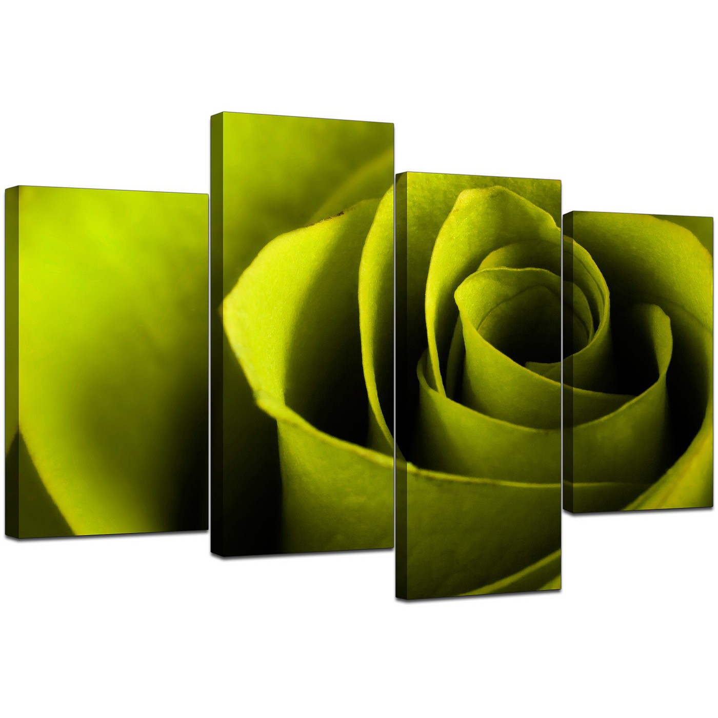 Wall Art Sets For Living Room Canvas Wall Art Of A Rose In Green For Your Living Room