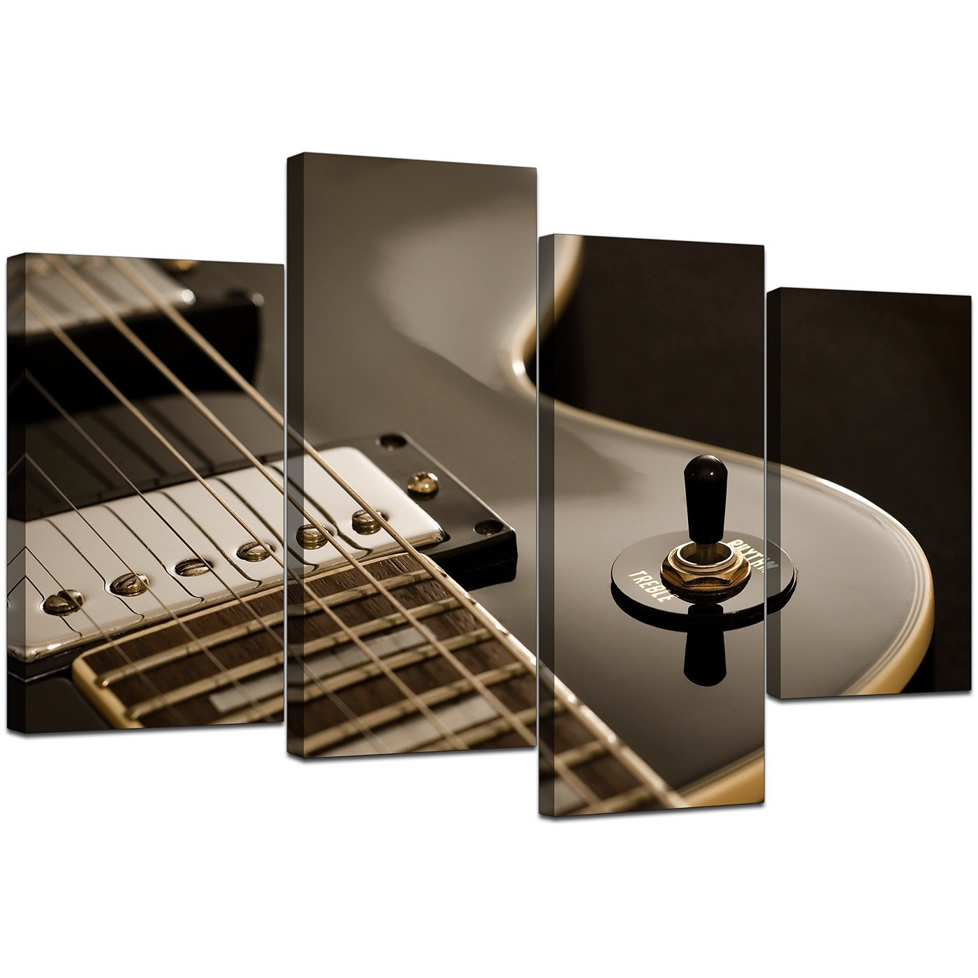 Canvas Prints of Guitar in BlackWhite for your Teenage Boys Bedroom
