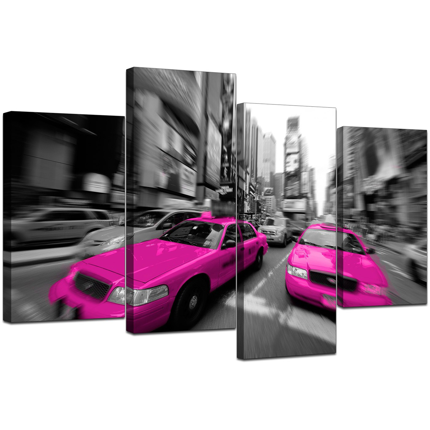 Display Gallery Item 5; Set Of 4 Living Room Pink Canvas Art Display  Gallery Item 6 Part 79