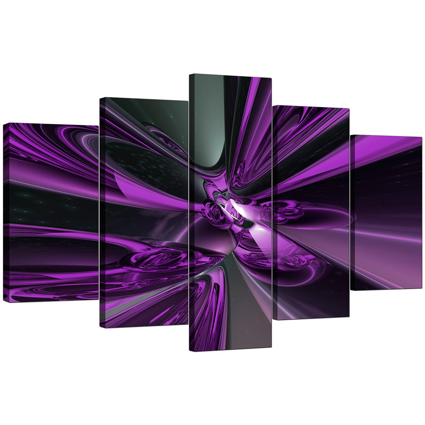 extra large purple abstract canvas prints uk 5 piece. Black Bedroom Furniture Sets. Home Design Ideas