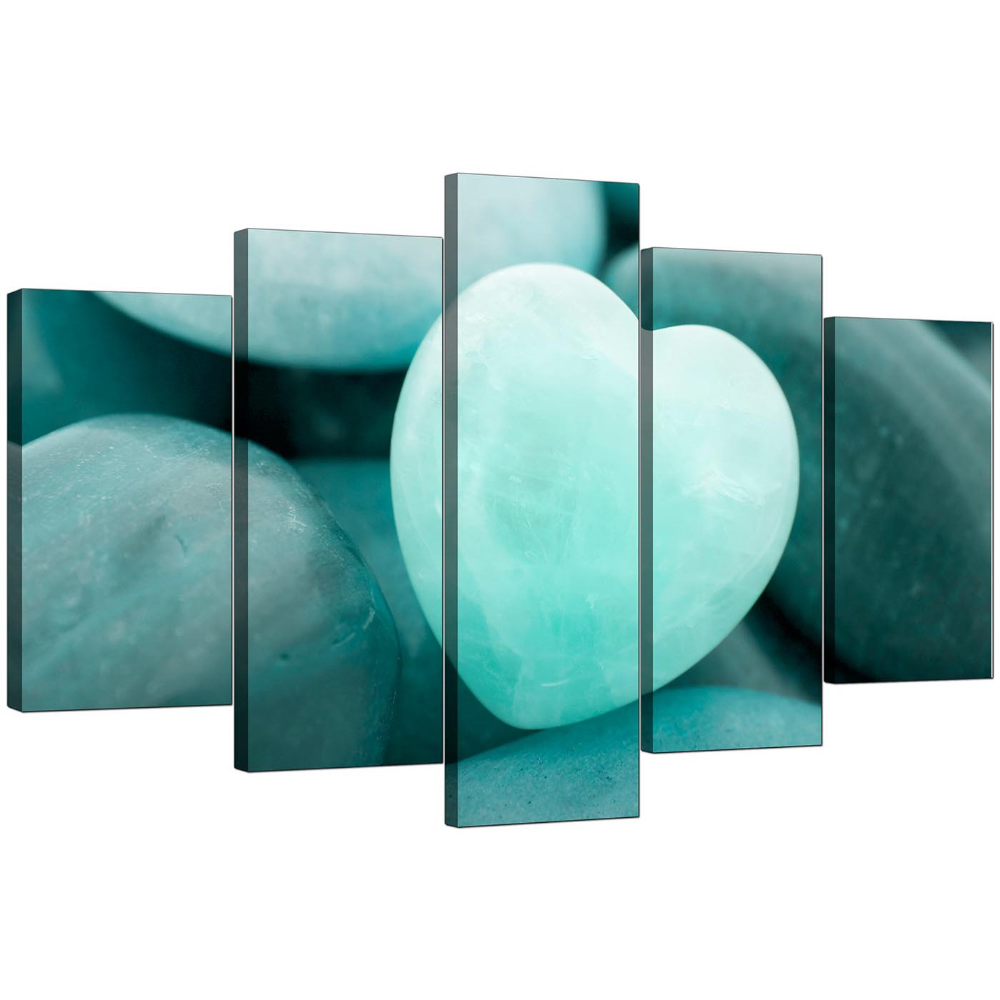 display gallery item 4 set of five extralarge teal canvas art display gallery item 5