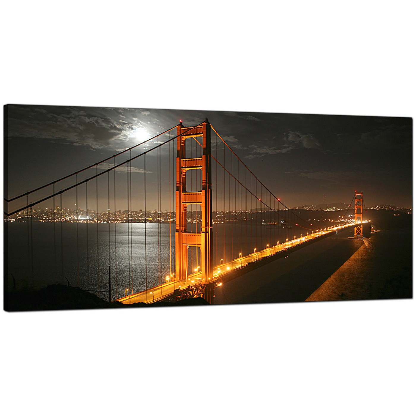 Display Gallery Item 4 Black White Living Room Wide Canvas Of San Francisco 5