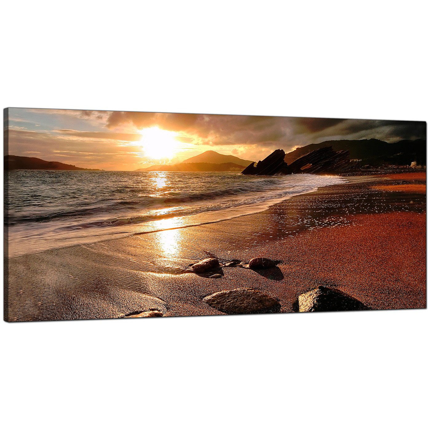 Display Gallery Item 8 Brown Living Room Panoramic Canvas Of Beach Landscape 9