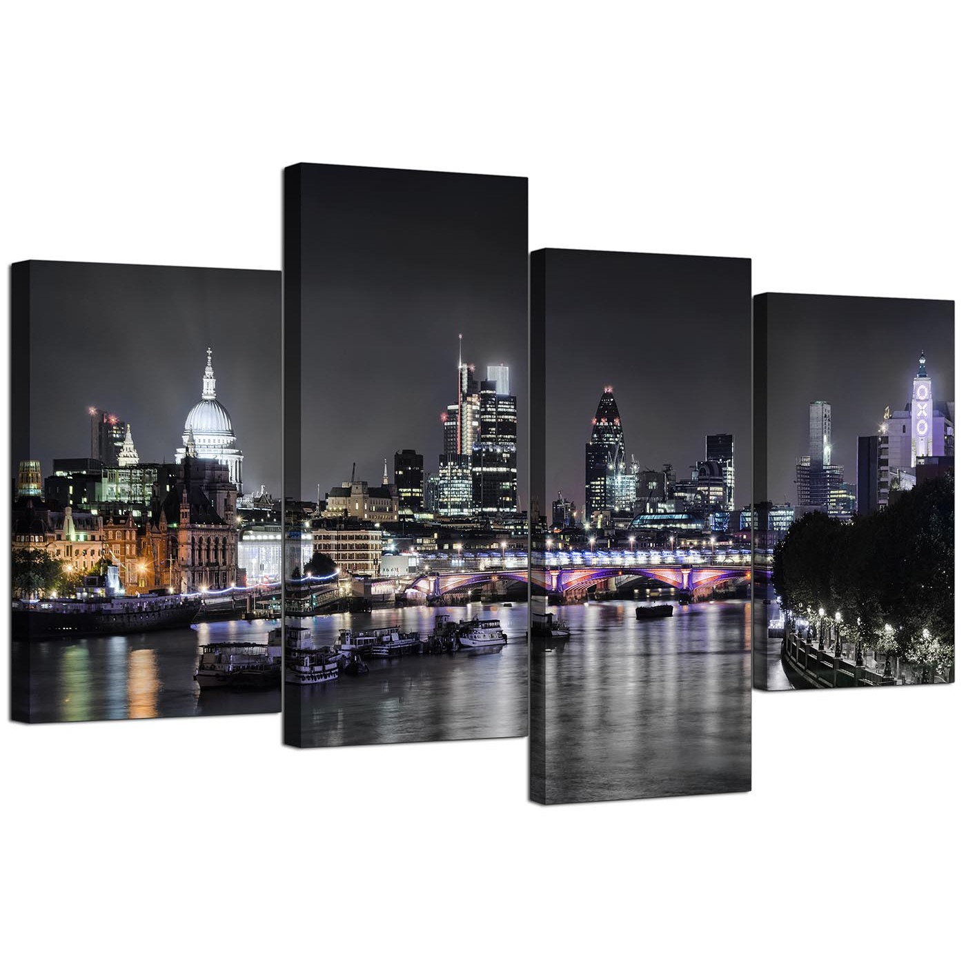 Canvas Wall Art Of London Skyline For Your Living Room Panel
