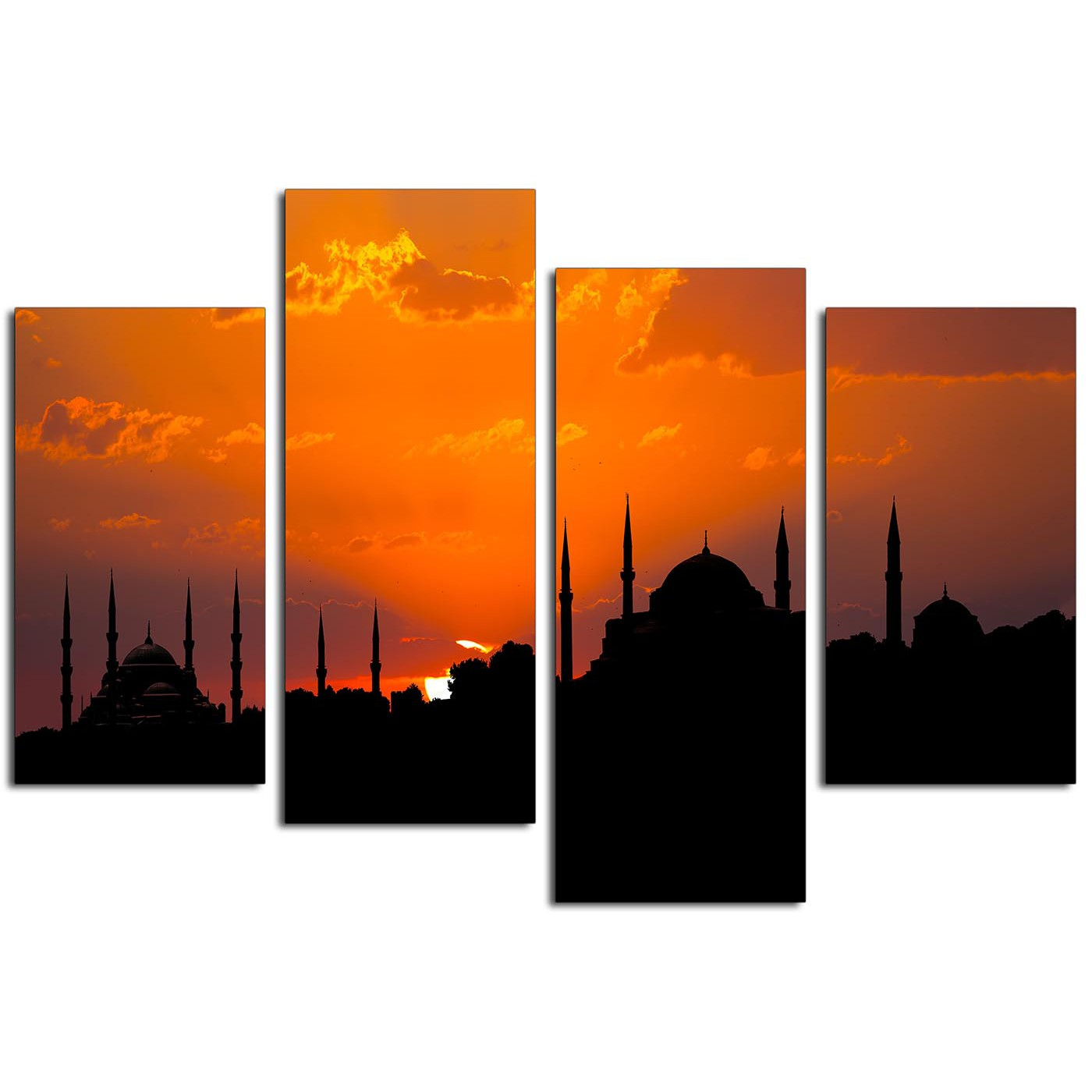 Display Gallery Item 3 Cheap Canvas Prints UK Istanbul Blue Mosque Living Room 4205 4