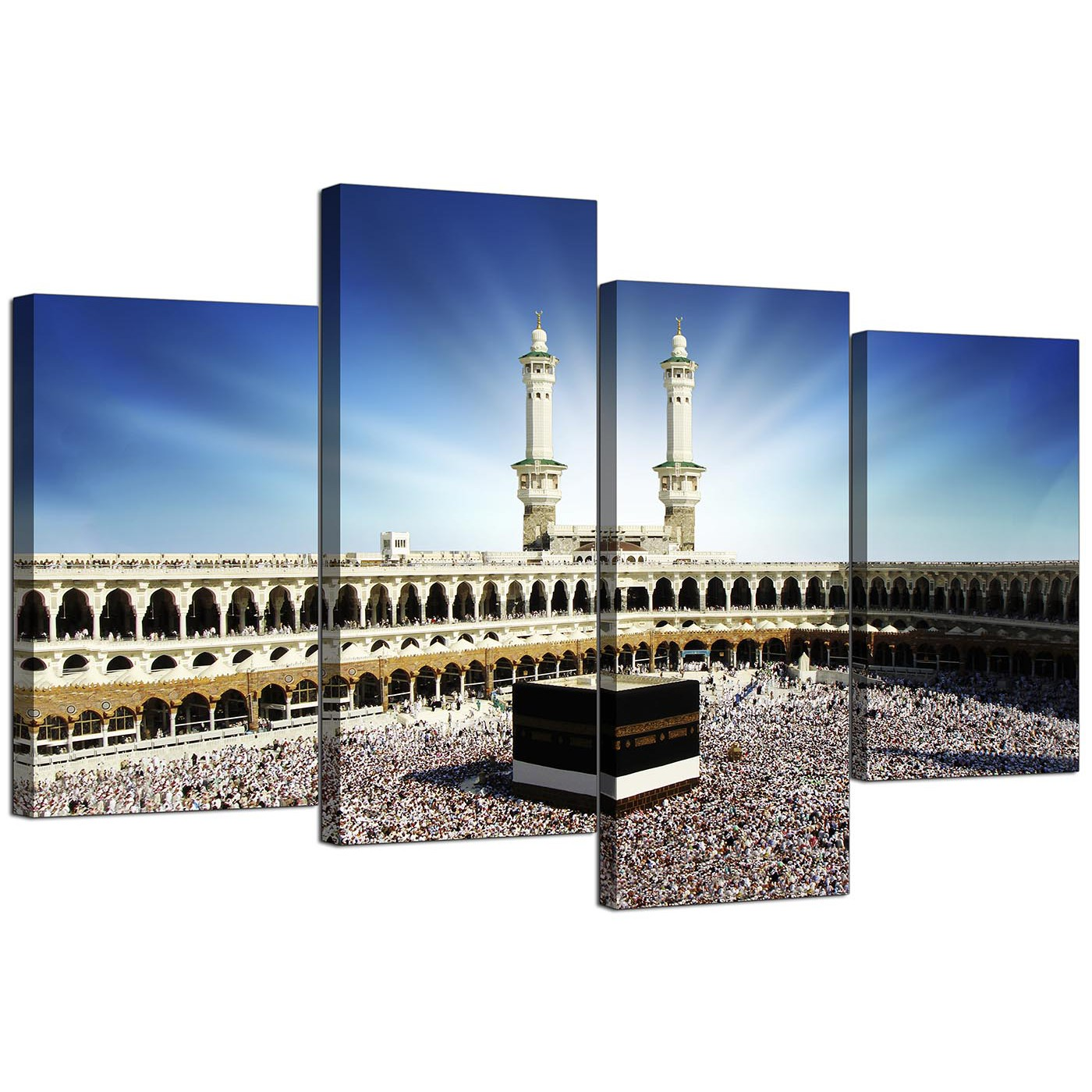 islamic canvas wall art of kaaba hajj in mecca for muslims set of 4 display gallery item 4 cheap canvas prints hallway 130cm x 68cm 4191 display gallery item 5
