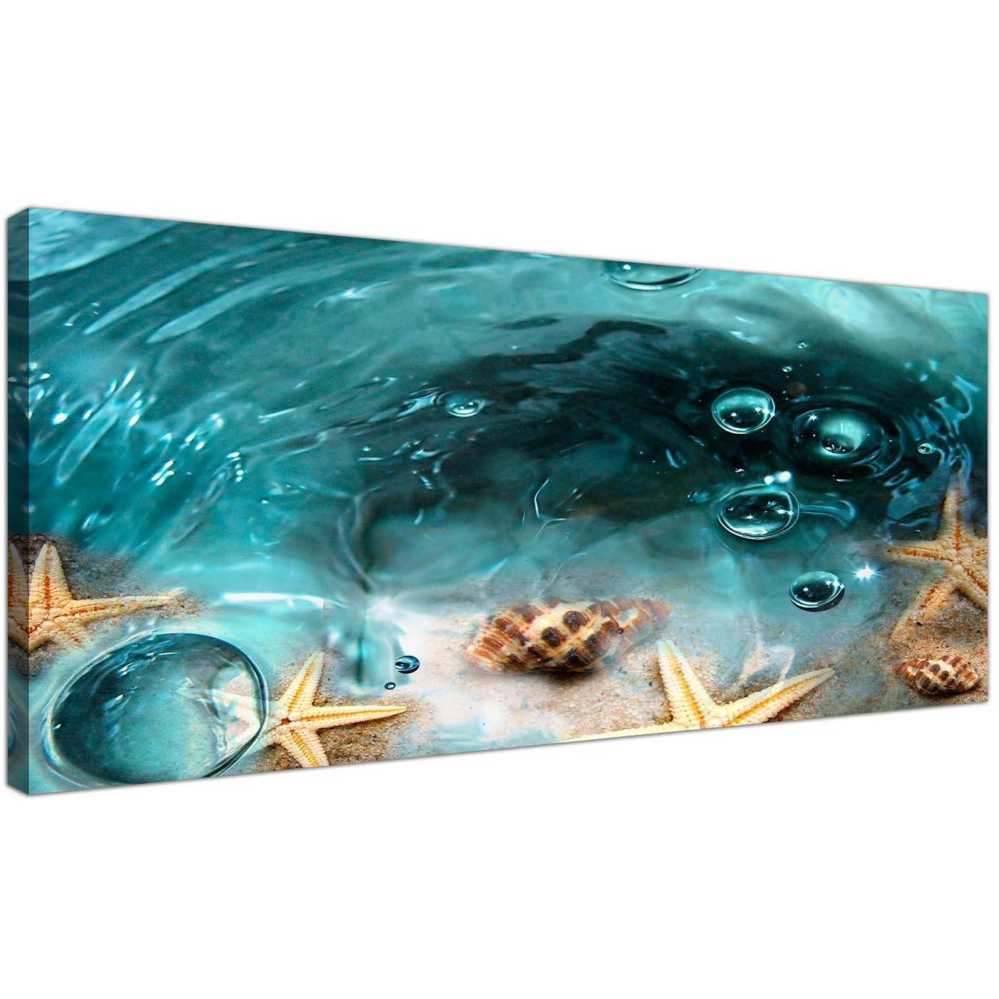 cheap panoramic canvas wall art bathroom 120cm x 50cm display gallery item 1