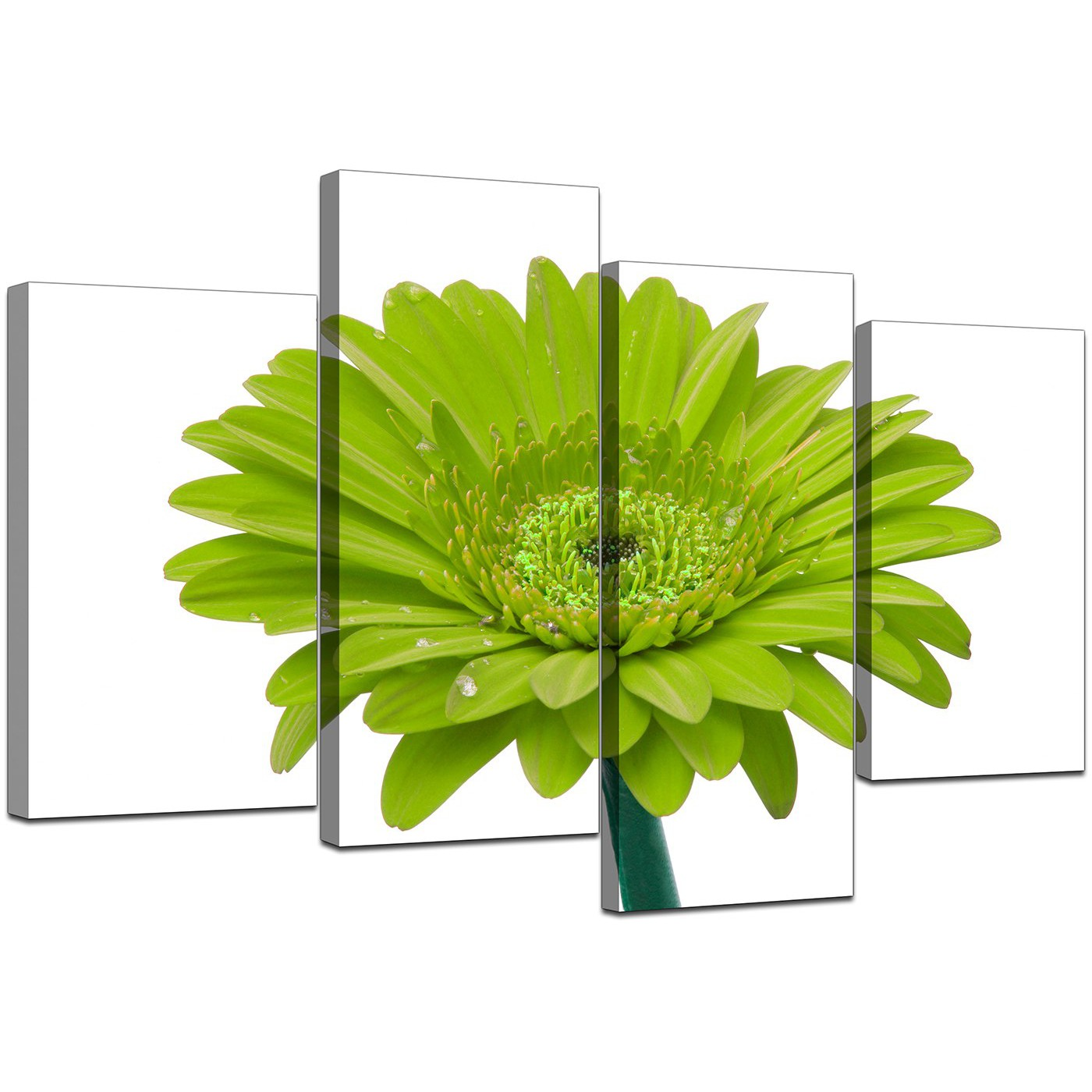 Display Gallery Item 5; Set Of Four Modern Lime Green Canvas Wall Art  Display Gallery Item 6 Part 15