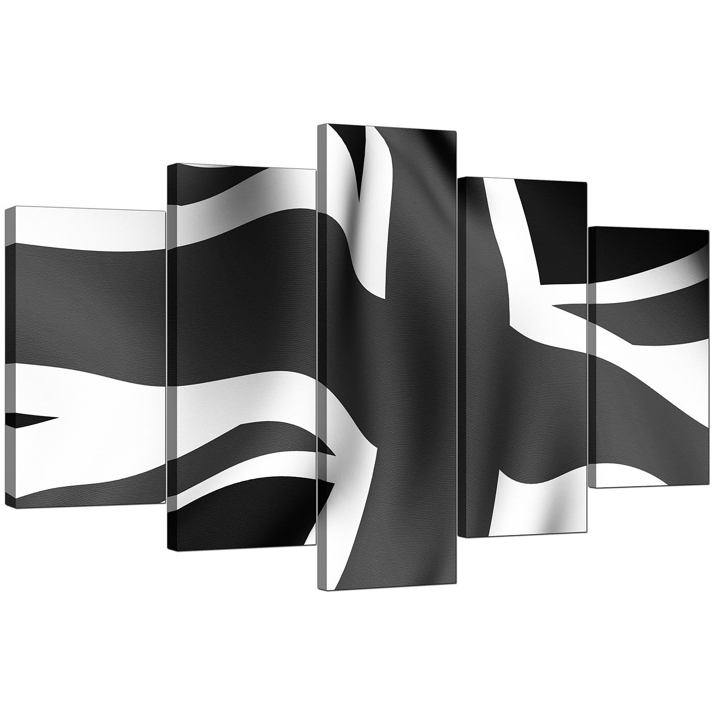 extra large union jack canvas art  piece in black  white - display gallery item  set of five cheap black white canvas art displaygallery item