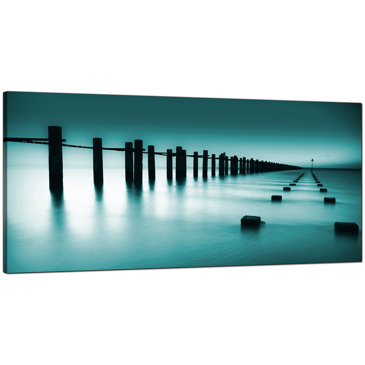 Cheap Teal Canvas Prints of the Sea : cheap teal canvas art uk landscape panoramic 10891 from www.wallfillers.co.uk size 1400 x 1400 jpeg 131kB