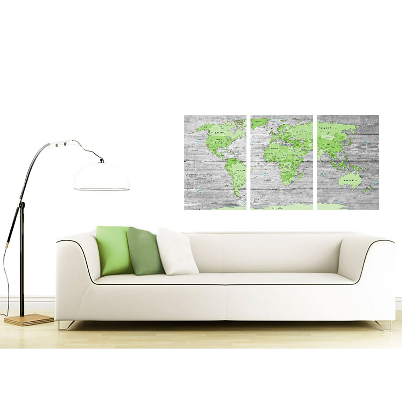 Large lime green grey world map atlas canvas wall art print display gallery item 3 contemporary green grey large lime green grey world map atlas canvas wall art print maps canvas display gallery item 4 gumiabroncs Choice Image