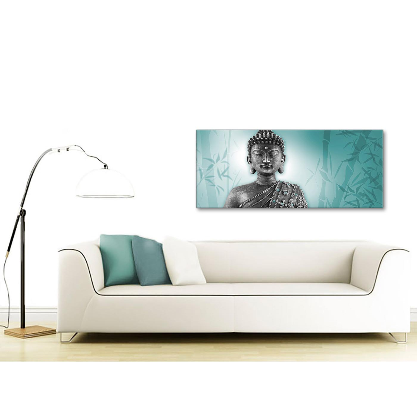 ... Dining Room Art Prints By Teal And Grey Silver Canvas Art Prints Of  Buddha Modern 120cm ...