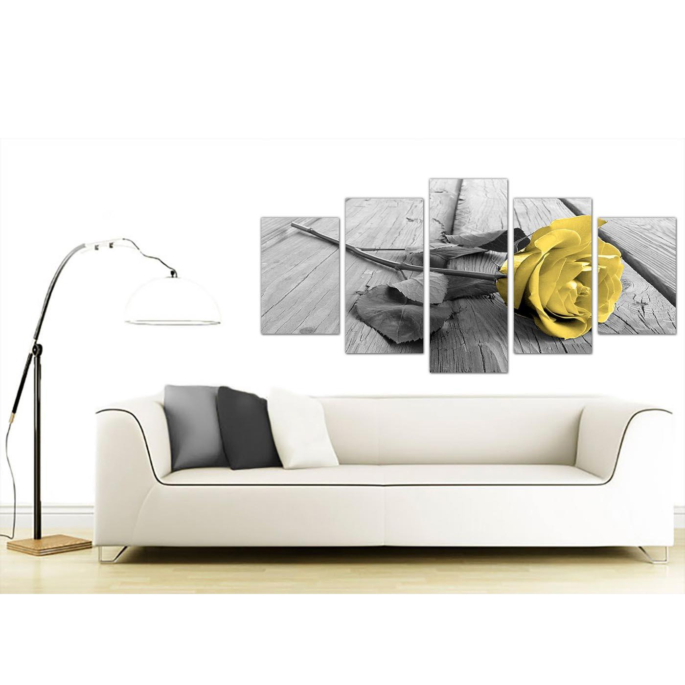 Display Gallery Item 1 Extra Large Flower Canvas Wall Art Living Room 5255 2