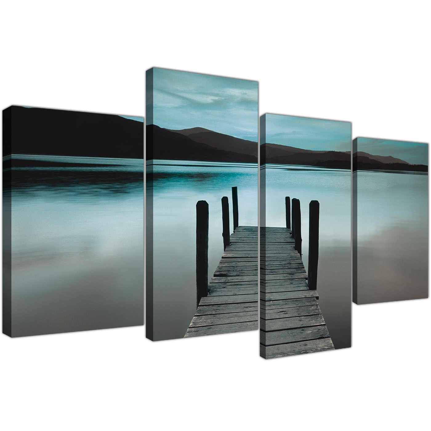 Large Canvas Art Living Room 4 Panel 4237 Display Gallery Item 1 ... Part 52