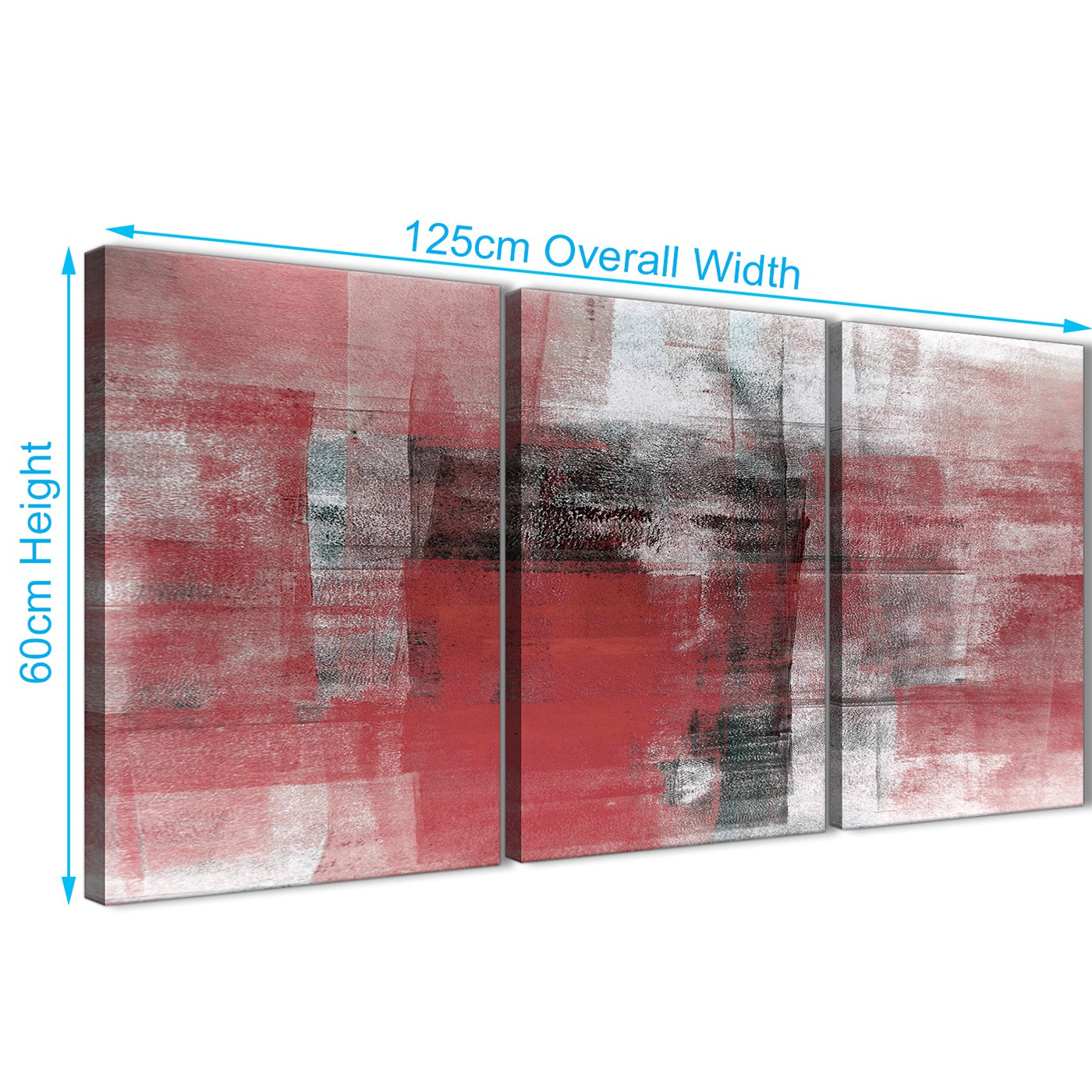 Display Gallery Item 3; Multiple 3 Panel Red Black White Painting Living  Room Canvas ...