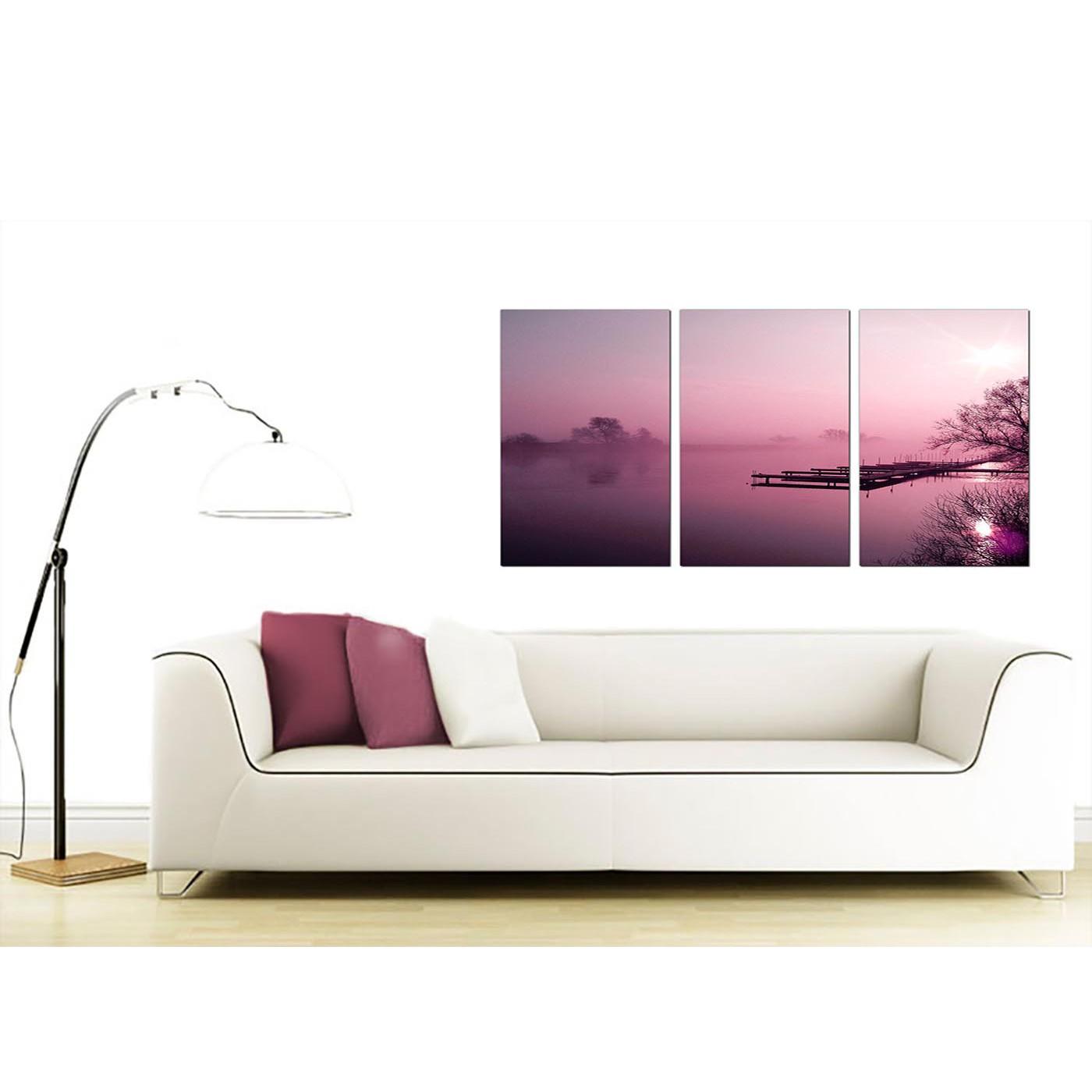 Display Gallery Item 4 3 Panel Landscape Canvas Prints UK 125cm X 60cm 3120 5