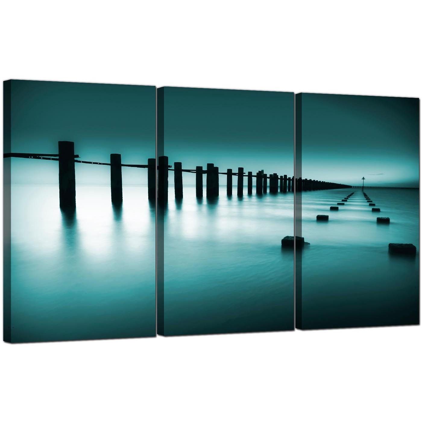 display gallery item 5 3 part seaside canvas wall art blue green sea display gallery item 6
