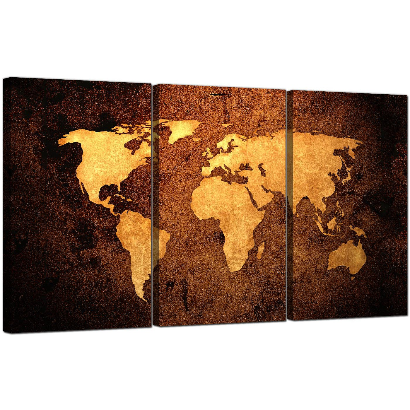 Vintage world map canvas wall art set of 3 for your bedroom 24x36 vintage world map canvas wall art set of 3 for your bedroom gumiabroncs Choice Image