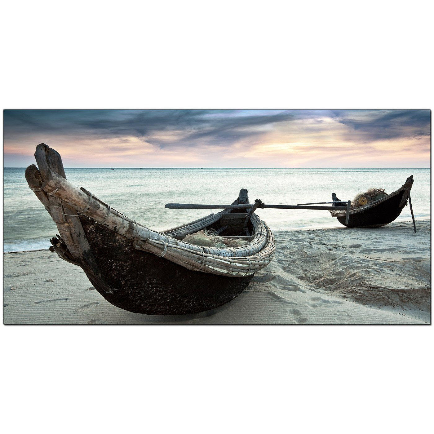 Large canvas prints of tropical beach boats for your office for Large fishing boats