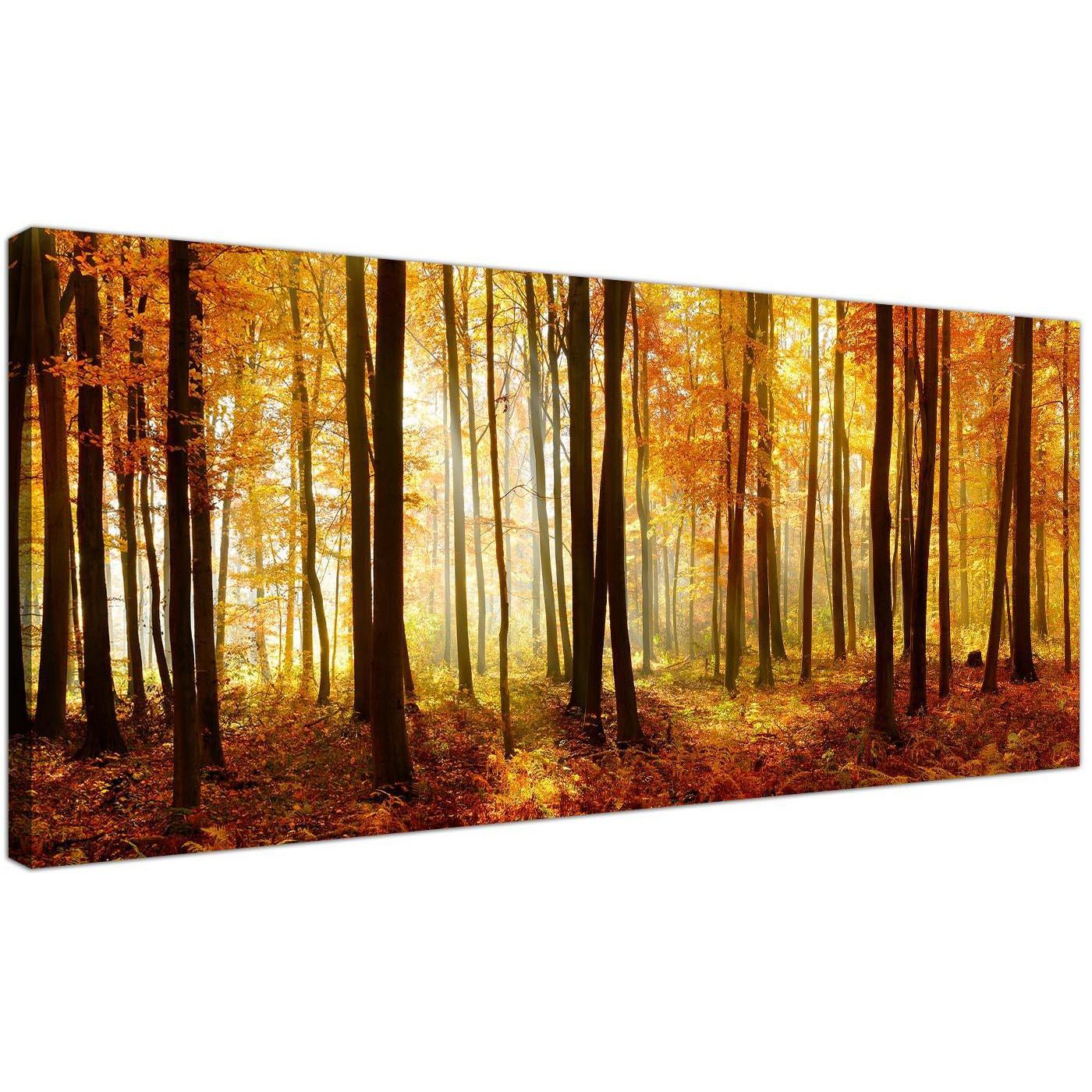Golden Autumn Art Paintings Oil On Canvas