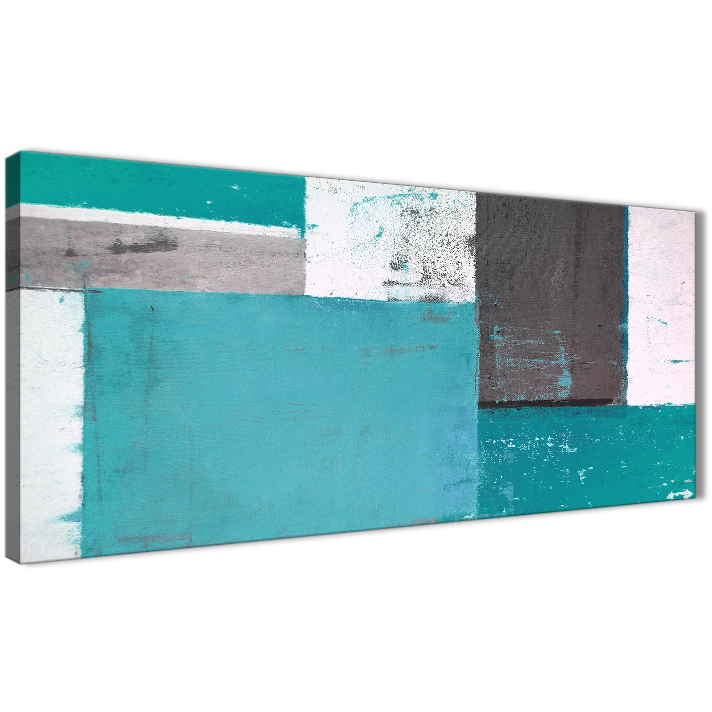 Oversized Teal Grey Abstract Painting Canvas Wall Art Modern 120cm Wide  1344 For Your Bedroom Display Gallery Item 1 ...