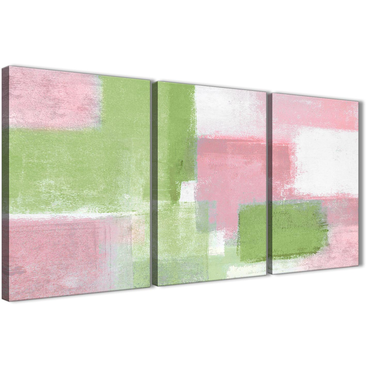 3 piece pink lime green dining room canvas wall art for 3 panel wall art