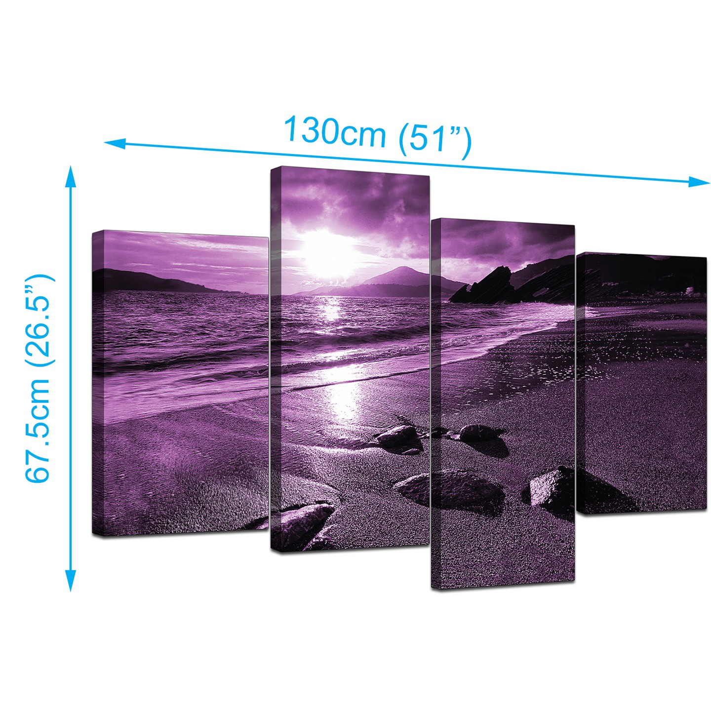 ABSTRACT PURPLE PINK WAVES CANVAS WALL ART PICTURES PRINTS 20