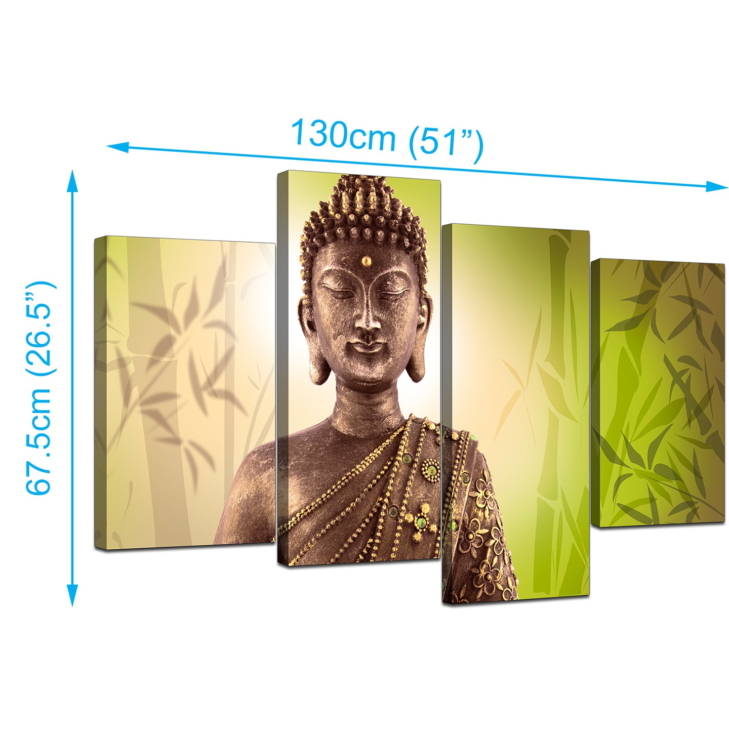 Display Gallery Item 2; Set Of Four Living Room Green Canvas Art Display  Gallery Item 3 ... Part 71