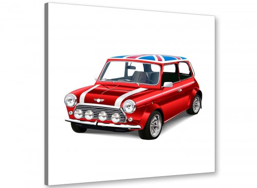 cheap mini cooper lifestyle canvas modern 64cm square 1s277m for your office