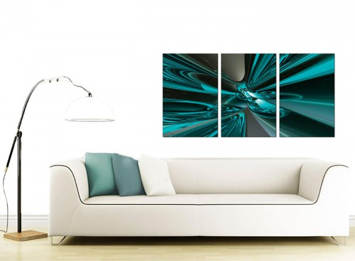Set of 3 Abstract Canvas Pictures 125cm x 60cm 3017