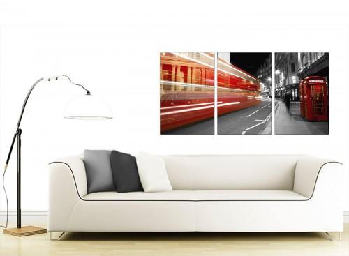 3 Panel City Canvas Art 125cm x 60cm 3127